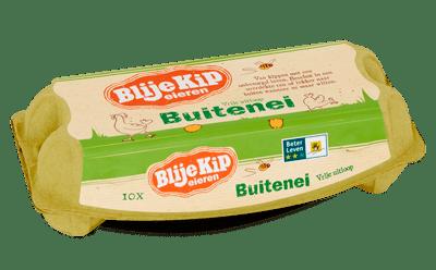 Blije Kip Eieren Bio-packshot-Buiten-Ei