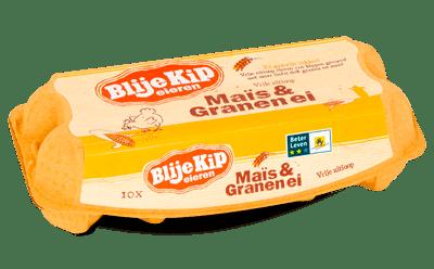 Blije Kip Eieren Bio-packshot-Mais-Granen-ei