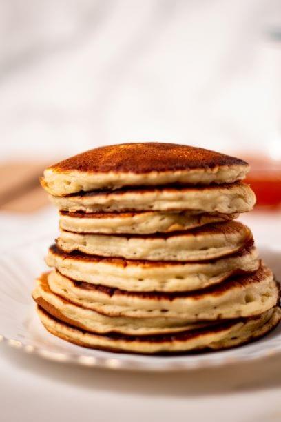 Stack American pancakes
