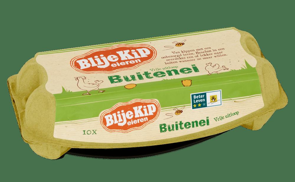 Blije Kip eieren Buitenei | vrije uitloop eieren